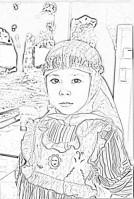 sketsa pensil fatiya