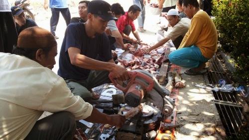 Pemotongan Kurban HTI Kota Banjarbaru (9)